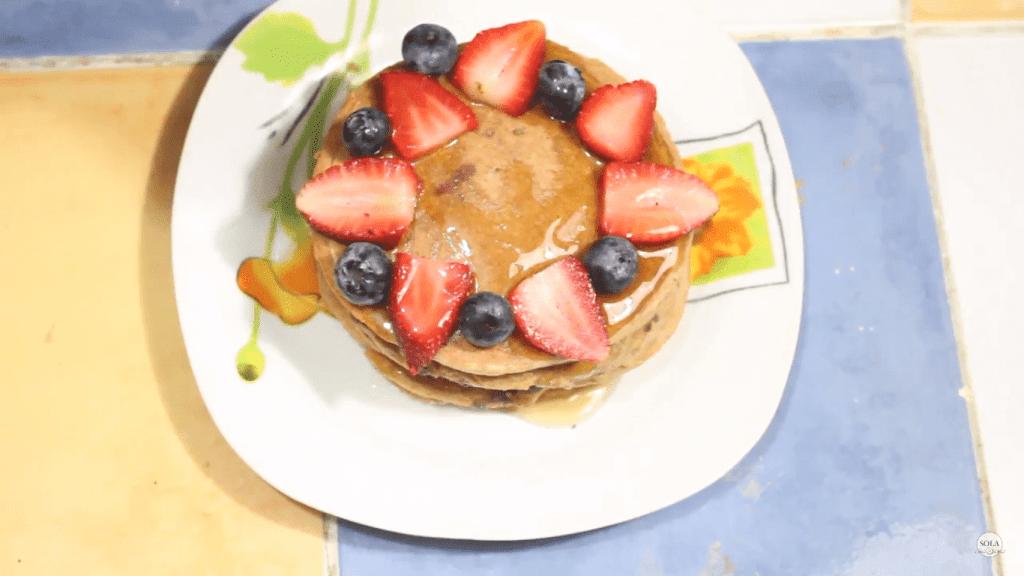 Decoración de Pancakes Veganos