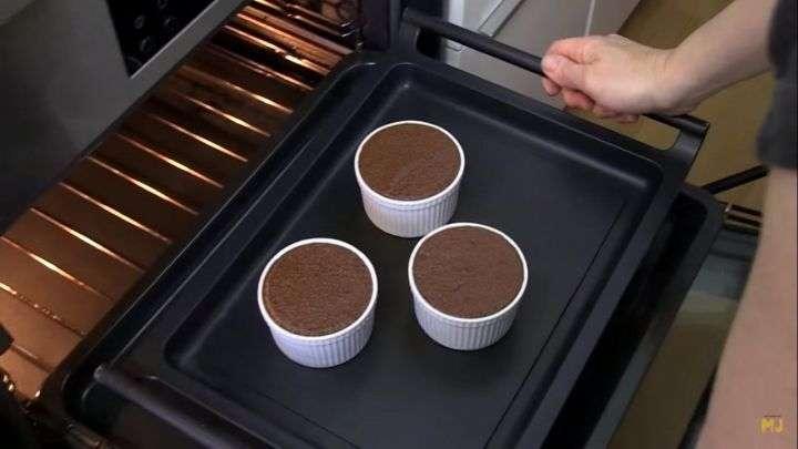 Receta souffle de chocolate paso 8