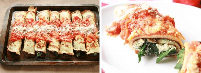 Canelones con Salsa de Tomate