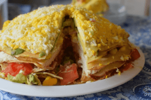 Receta de Torta de Panqueques Salados