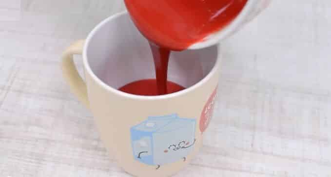 mug cake red velvet paso 4